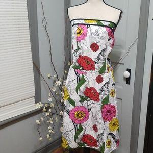 Torrid Strapless Floral Dress
